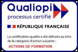 L'Ecole EFT France est certifiée QUALIOPI pour ses actions de formation - Qualiopi est une marque officielle déposée par l'Etat français représenté par le Ministre du Travail, qui atteste de la qualité du processus mis en oeuvre par l'école certifiée