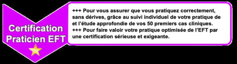 """Formation complète jusqu'à la certification de """"Praticien EFT Certifié"""""""